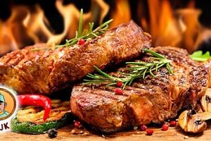 Švejkova grilovačka: 1 kg kuřecích či vepřových steaků pro 4-6 osob...