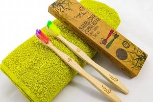 Ekologický bambusový zubní kartáček od Smiley Monkey včetně poštovného...