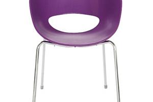 Židle Eggshell - fialová...