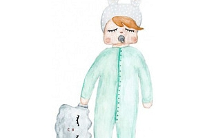 Plakát do dětského pokojíčku Rabbit Cloud...