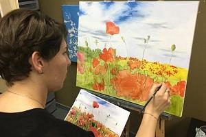 LETNÍ 1-denní kurz malování BEZ POMŮCEK ,1x plátno ZDARMA - ČERVENEC - libovolně zvoleny den v…...