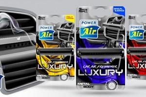 Osvěžovač Luxury 3v1 s kovovým tělem pro umístění do auta...