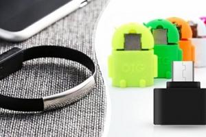Vychytávky pro smartphone: různé náramky či adaptéry...