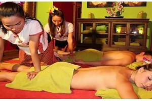Olejová a uvolňující masáž pro pár s rybičkami Garra Rufa...