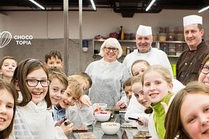 Workshop v Muzeu čokolády Chocotopia s ochutnávkou i výrobou čokoládových tabulek...