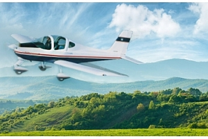 Vyhlídkový let na 30 nebo 60 minut čistého času ve vzduchu sportovním letadlem s možností vyzkoušet…...