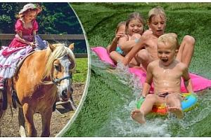 Den v zábavním areálu s projížďkou na koni a vstupem do biotopu zdarma...