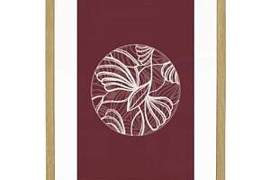 Dubový rámeček s obrázkem Nature/Burgundy 22,5x31,5 cm...