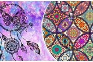 Buďte kreativní a vytvořte si obraz mandaly metodou barevných krystalků...