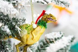 Vánoční ozdoba Santasaurus...