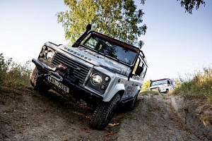 Kurz offroad jízdy v Land Roveru...
