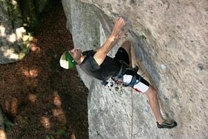 Kurz lezení na skalách...