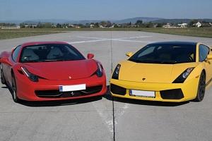 Souboj titánů: Ferrari 458 Italia vs Lamborghini Gallardo LP 570-4 v Čechách...