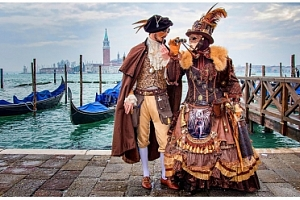 Tradiční karneval v italských Benátkách...