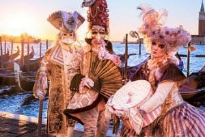 Slavný karneval v italských Benátkách...
