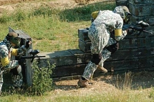 Vojenský výcvik v army parku...