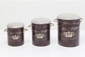 KARE DESIGN Stool Storage Royal (3/Set)...