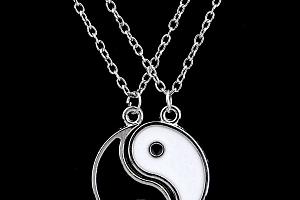 Dvojitý náhrdelník s přívěskem JING JANG a poštovné ZDARMA!...