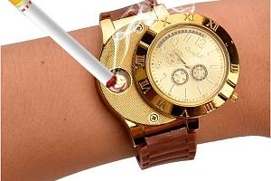 Pánské hodinky se zapalovačem...