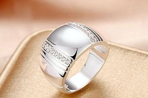 Stylový masivní prsten - stříbrná a poštovné ZDARMA!...