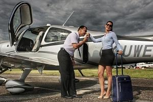 Vyhlídkový let luxusním letadlem...