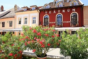 Győr v penzionu v centru nedaleko termálů Rába Quelle s polopenzí nebo snídaní...