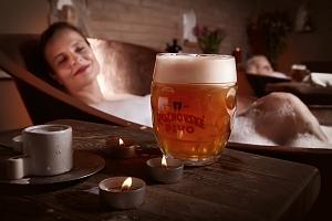 Královská levandulová péče pro dva v Rožnovských pivních lázních s ozdravnými procedurami včetně…...