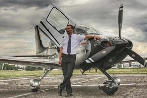 Pilotem luxusního letadla na zkoušku...
