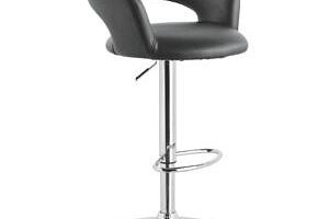Xora Barová Židle, Černá, Barvy Chromu černá, barvy chromu 58x86-107x57...