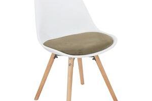 Tempo Kondela, s.r.o. Židle, šedohnědá Taupe sametová látka / bílý plast / buk, Semer NEW...