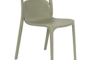 White Label Living Zelená plastová židle WLL Rex...