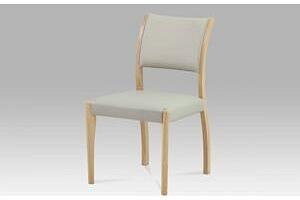 Jídelní židle C-186 OAK1 bělený dub / koženka lanýžová Autronic...