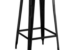 Barová židle IRON černá/železo...