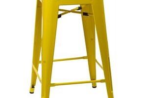 Culty Žlutá kovová barová židle Tolix 75...
