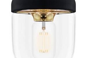 Černé stínidlo s objímkou zlaté barvy VITA Copenhagen Acorn, ⌀ 14 cm...