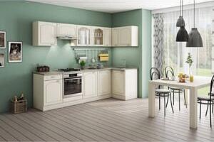 Rohová kuchyně Julia pravý roh 270x110 cm vanilka/magnolie/písek...