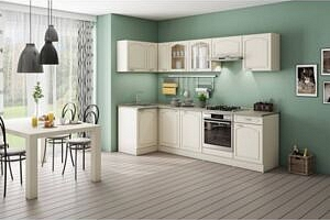 Rohová kuchyně Julia levý roh 270x110 cm(vanilka/magnolie/písek)...