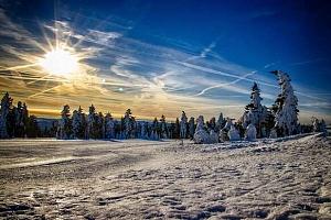 Zimní dovolená či Silvestr v Krušných horách s polopenzí, bazénem a saunou...