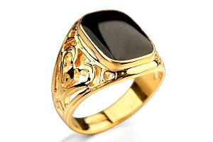 Masivní pánský prsten - zlatá barva vel. 10 a poštovné ZDARMA s dodáním do 2 dnů!...