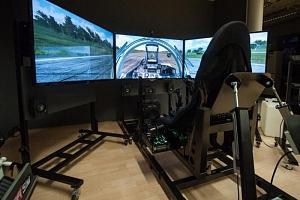 Pohyblivý letecký simulátor...