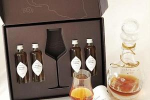 Degustační box Cognac: 4 vzorky + sklenička...