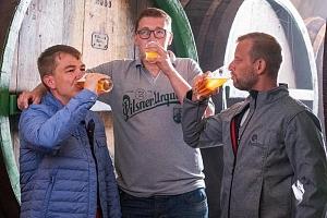 Kurz čepování piva Pilsner Urquell + prohlídka pivovaru...