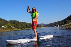 Na paddleboardu a koloběžce Českým Švýcarskem...