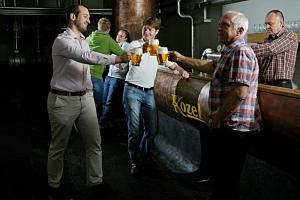 Kozlova škola čepování piva + prohlídka pivovaru Velké Popovice...