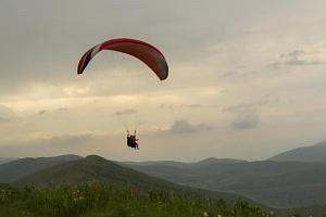 Tandem paragliding...