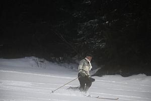 Kurz lyžování na dřevěných lyžích...
