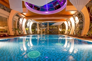 Sárvár: Spirit Hotel Thermal Spa ***** s neomezeným termálním wellness s 22 bazény + Saunový svět a…...