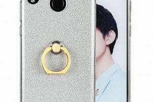 Silikonový lesklý zadní kryt se stojánkem pro Huawei Nova 3 PZK48 Barva: Bílá...