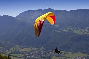 Tandem paragliding: Termický let...