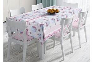Ubrus Minimalist Tablecloths Pink and Blue Flowers 120x140 cm...